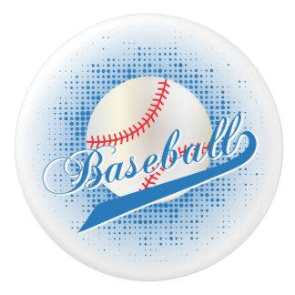 青いレトロの野球のスタイル セラミックノブ
