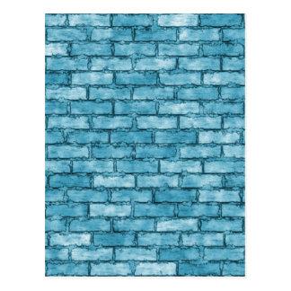 青いレンガ壁 ポストカード
