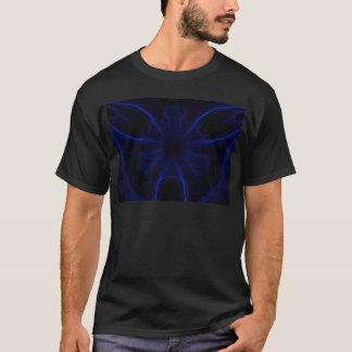 青いレーザーパターン Tシャツ