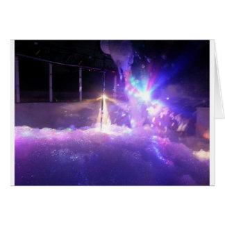 青いレーザー光線の泡 カード