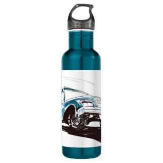 青いレースカーの自由 ウォーターボトル