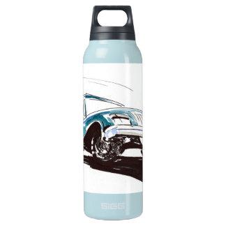 青いレースカーの自由 断熱ウォーターボトル