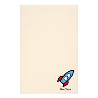 青いロケットの飛行 便箋