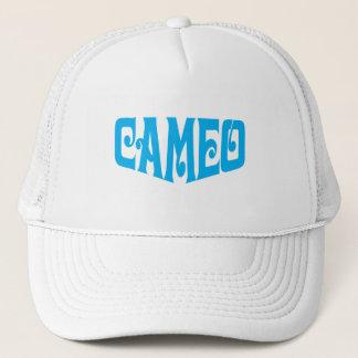 青いロゴのカメオの帽子 キャップ