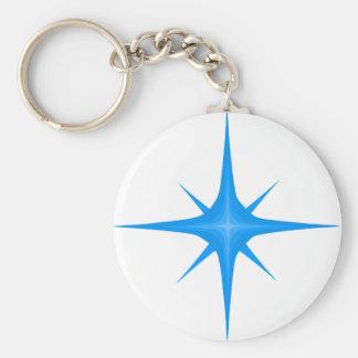 青いロゴのkeychain キーホルダー