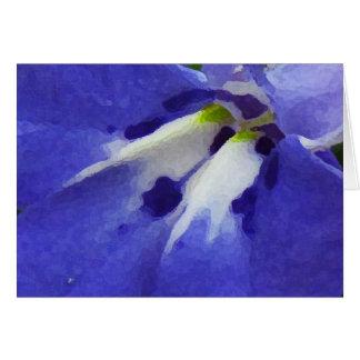 青いロベリアの母の日 カード