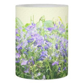 青いロベリアの花の花柄の庭 LEDキャンドル