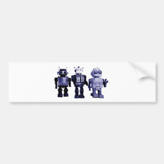 青いロボットバンパーステッカー バンパーステッカー