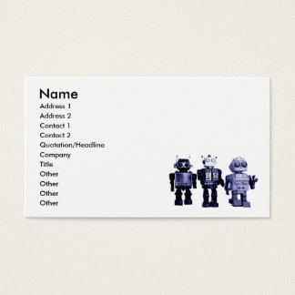 青いロボット名刺 名刺