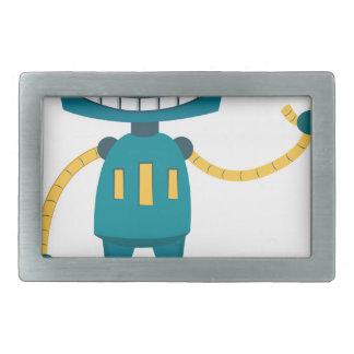 青いロボット漫画 長方形ベルトバックル