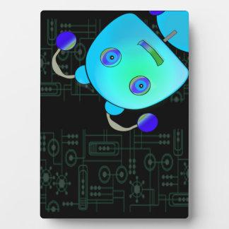 青いロボット フォトプラーク