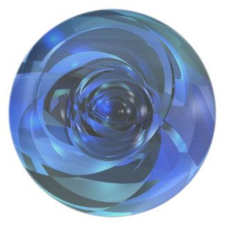 青いロンド プレート