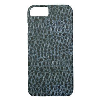 青いワニパターンiPhone 7の箱 iPhone 8/7ケース