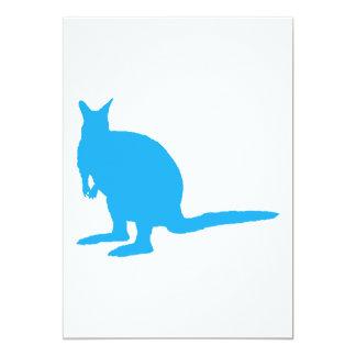 青いワラビー カード