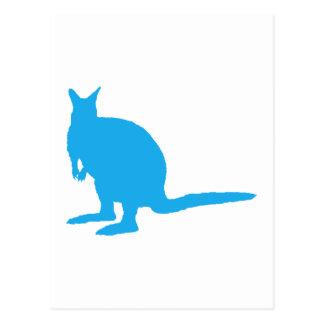 青いワラビー ポストカード