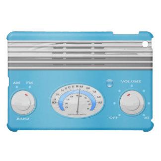 青いヴィンテージのラジオ iPad MINIケース