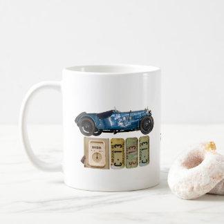 青いヴィンテージ車 コーヒーマグカップ