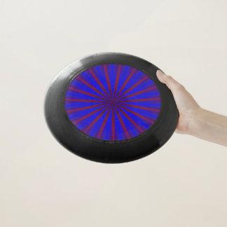青い万華鏡のように千変万化するパターンのデザイン Wham-Oフリスビー