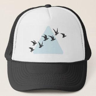 青い三角形の鳥 キャップ