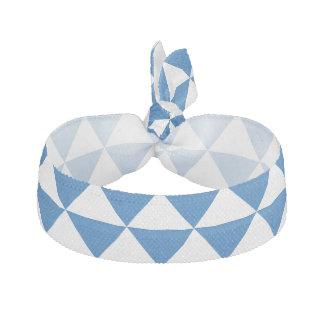 青い三角形パターン ヘアタイ