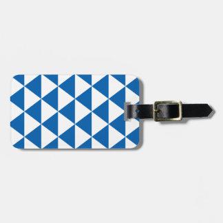 青い三角形パターン ラゲッジタグ