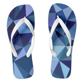 青い三角形 ビーチサンダル