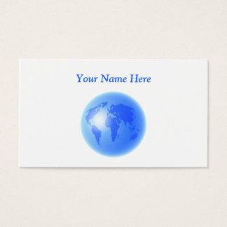 青い世界の地球、ここのあなたの名前 名刺