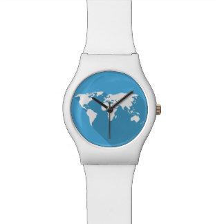 青い世界の白 腕時計