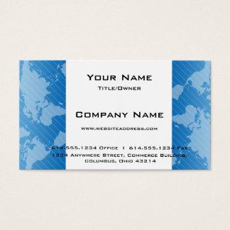 青い世界地図D3のモダンな名刺 名刺