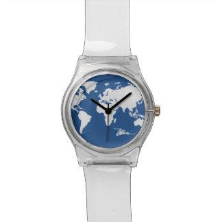 青い世界 腕時計