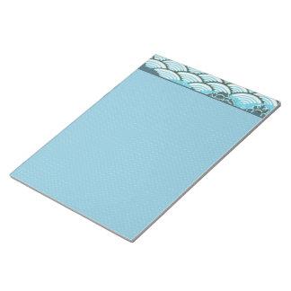 青い丘及び花 ノートパッド
