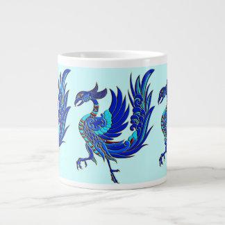 青い中国語フェニックス ジャンボコーヒーマグカップ