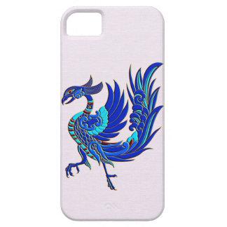 青い中国語フェニックス iPhone SE/5/5s ケース