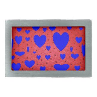 青い中心のバレンタインのベルトの留め金 長方形ベルトバックル