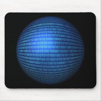 青い二進論理のマウスパッド マウスパッド