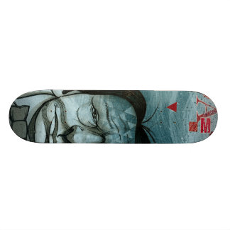 青い人のスケートボード スケートボード
