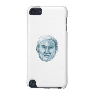 青い人のモンタージュ写真作製装置のスケッチ iPod TOUCH 5G ケース
