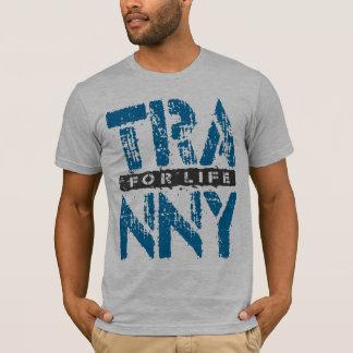 青い人生の信頼できる車伝達のためのTRANNY Tシャツ