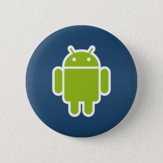 青い人間の特徴をもつボタン 缶バッジ