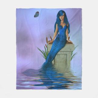 青い人魚のフリースブランケット フリースブランケット