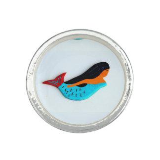 青い人魚の円形のリングや輪 指輪