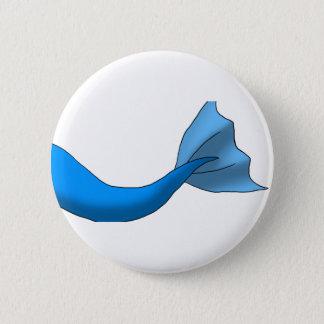 青い人魚の尾 5.7CM 丸型バッジ