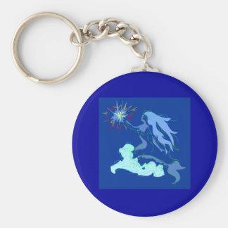青い人魚の精神および星 キーホルダー