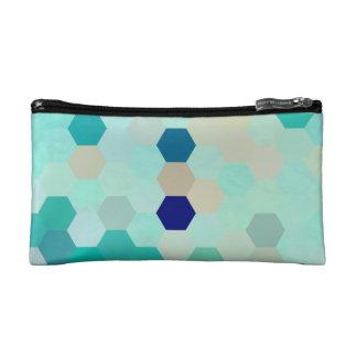 青い人魚は多彩カラフルな八角形をはかりで測ました コスメティックバッグ