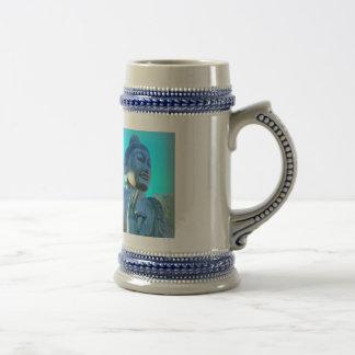 青い仏 ビールジョッキ