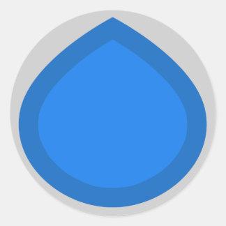 青い低下 ラウンドシール