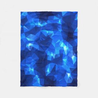 青い低多三角形のフリースブランケット フリースブランケット