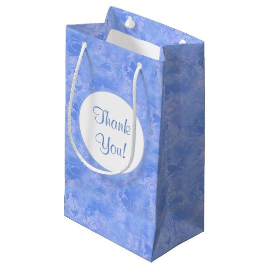 青い優雅の水の微妙な冬の紺碧のサファイア スモールペーパーバッグ