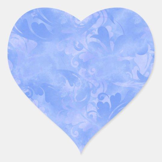 青い優雅の水の微妙な冬の紺碧のサファイア ハートシール