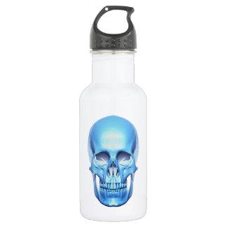 青い光沢があるスカルの自由のボトル ウォーターボトル
